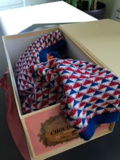 Reuse Idea: Don't know where to store your winter wardrobe? How about in one of our Premium Collection Chocolate Boxes? The large fits up to three sweaters!