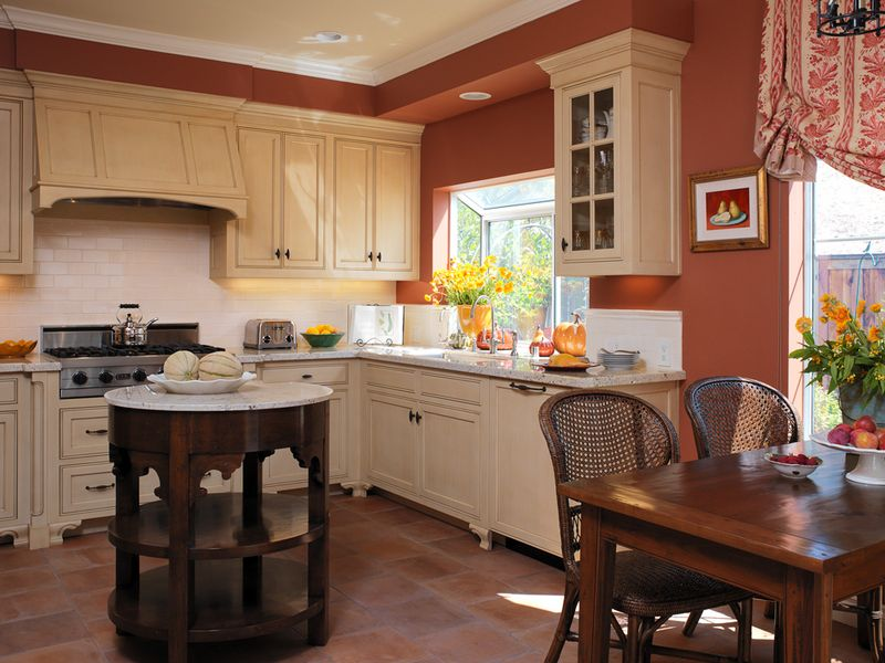 Terra Cotta Kitchen Like Cabinets Also Maybe Wall Paint A Little Lighter Kitchen Wall Colors Paint For Kitchen Walls Kitchen Design Color