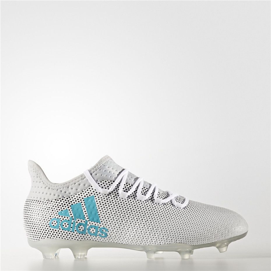 be5d3e2ca Adidas X 17.2 Firm Ground Cleats (Running White Ftw / Energy Blue / Clear  Grey)