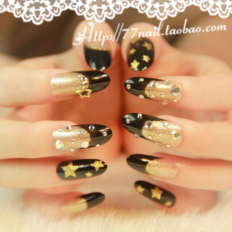 Pin By Sveta Joshi On Nails Art Nails False Nails Black Nails