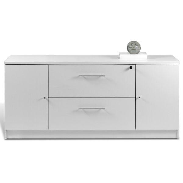 Jesper Office Professional White Storage Credenza