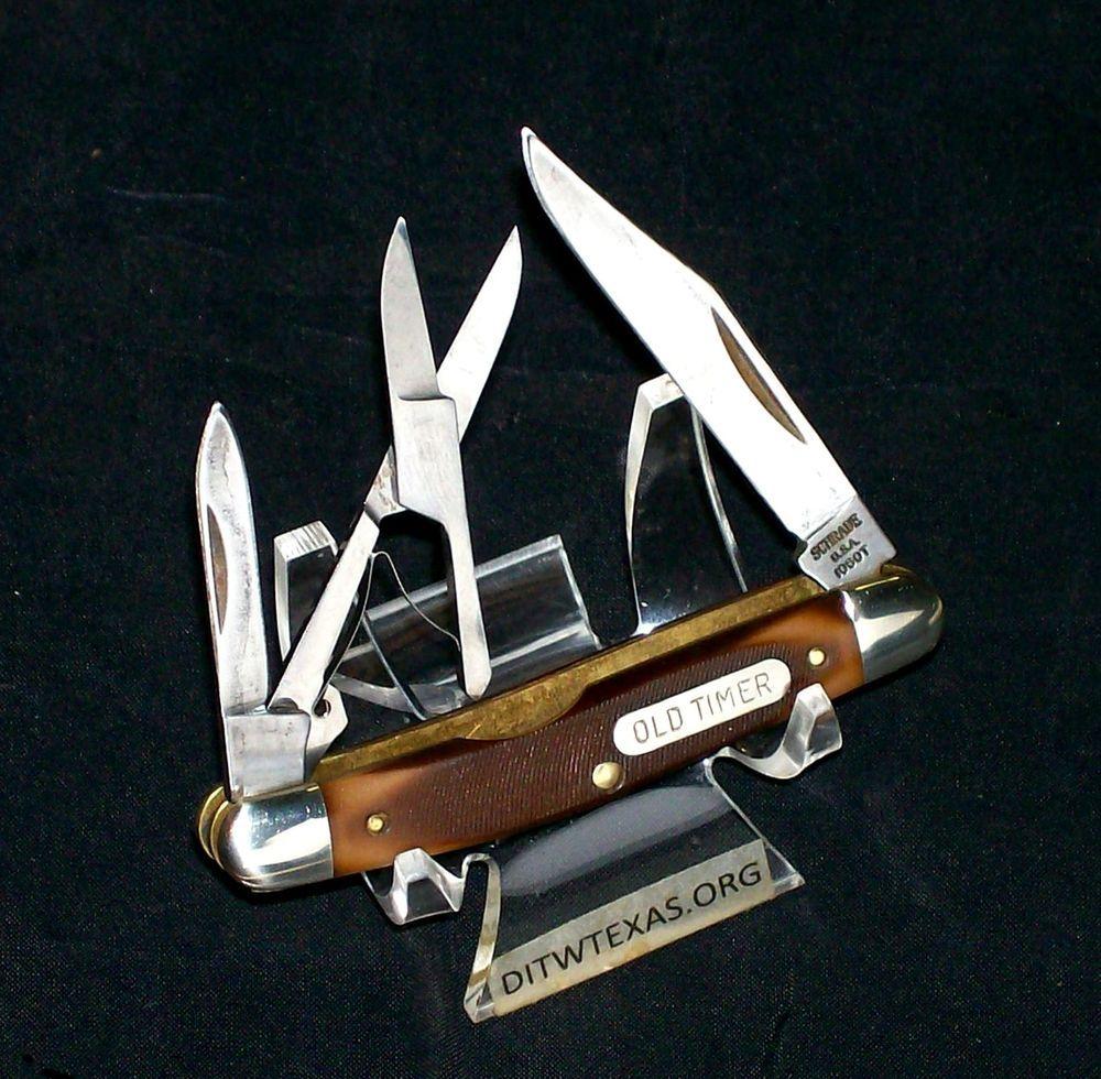 RARE & VINTAGE Schrade 106OT Knife 1991 Grandads Old Timer W