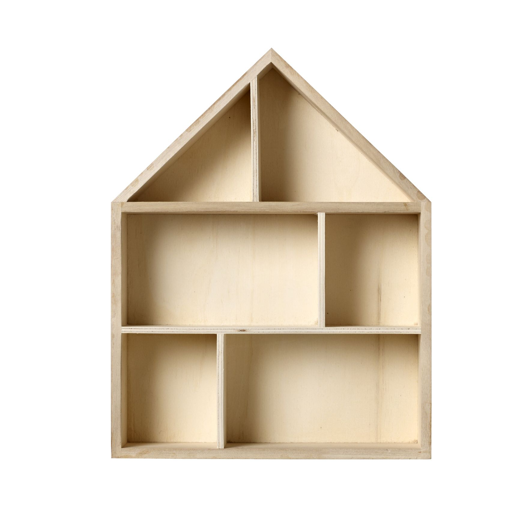 House Shaped Shadow Box Wooden Display Box Box Houses Decor
