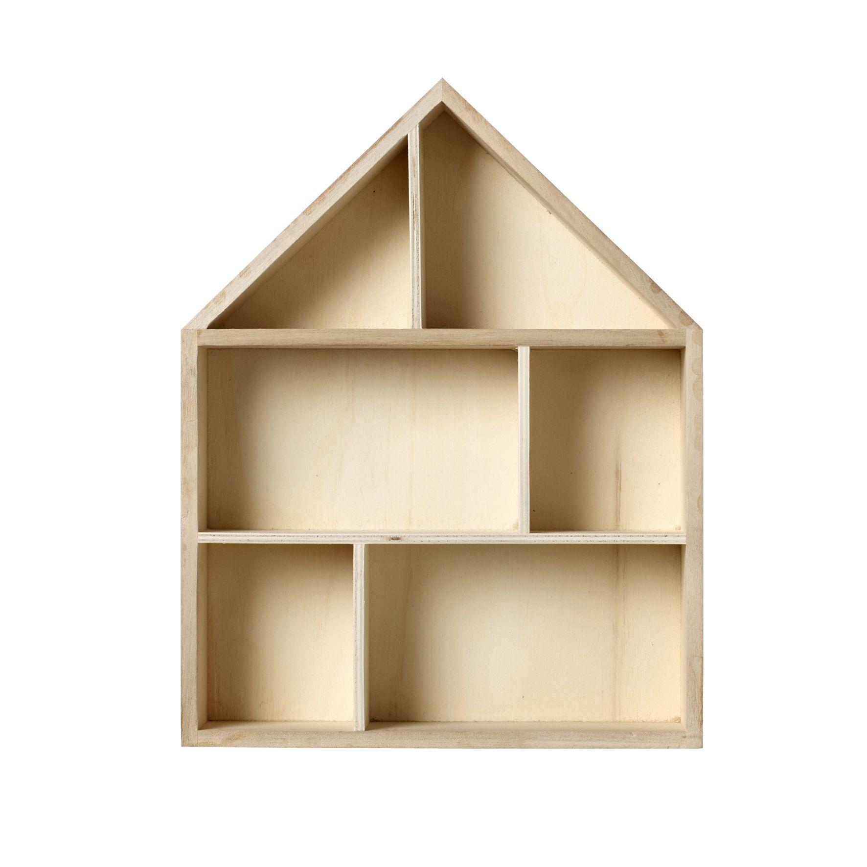 House Shaped Shadow Box Wooden Display Box Box Houses Decor