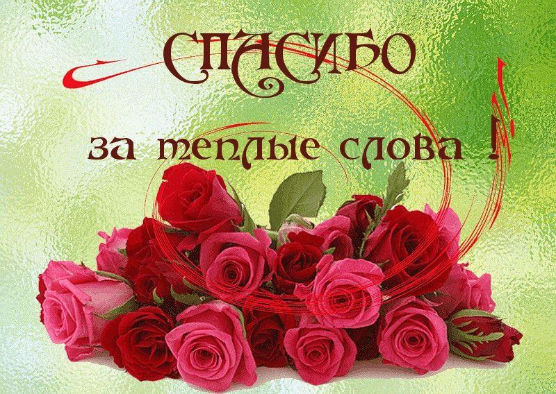 Cpasibo Vam Za Lyubov Muzyka Obedinya Thanks Card Cartoon Flowers Cards