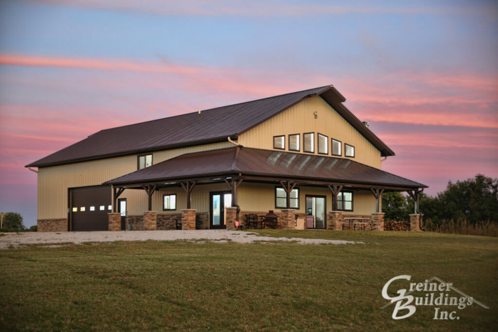 SHOME®: The Ultimate Pole Barn with Living Quarters | Greiner Buildings #polebarngarage