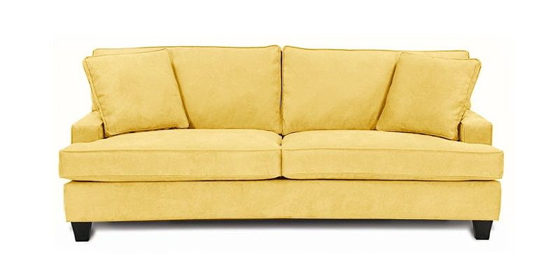 Er Yellow Leather Sofa