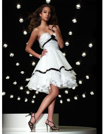 Organze Sweetheart Ruffles Princess Prom / Cocktail Dress