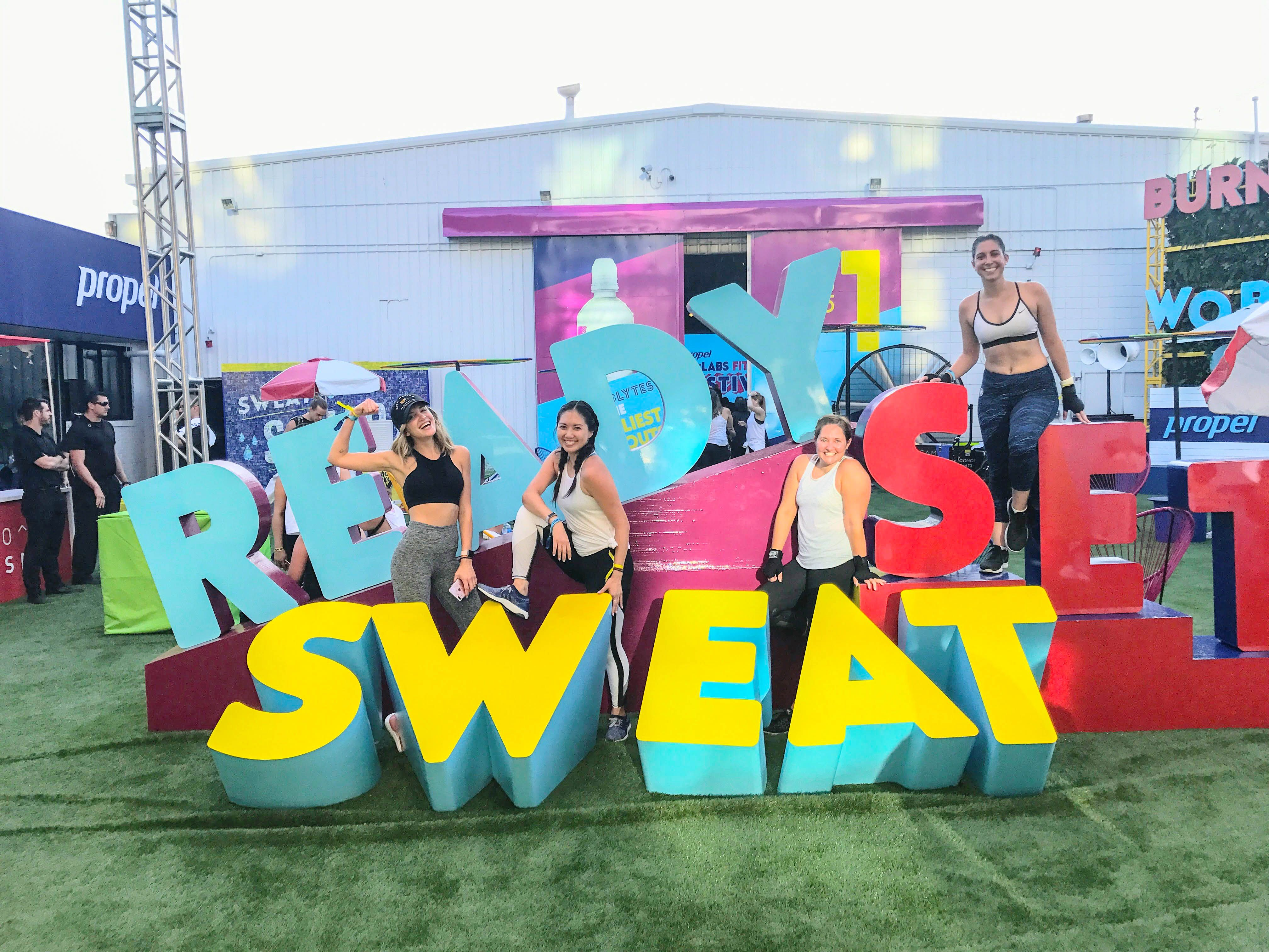 Propel Fitness Festival August 2017 Review The Dimple Life Exhibition Design Pop Art Party Interactive Exhibition