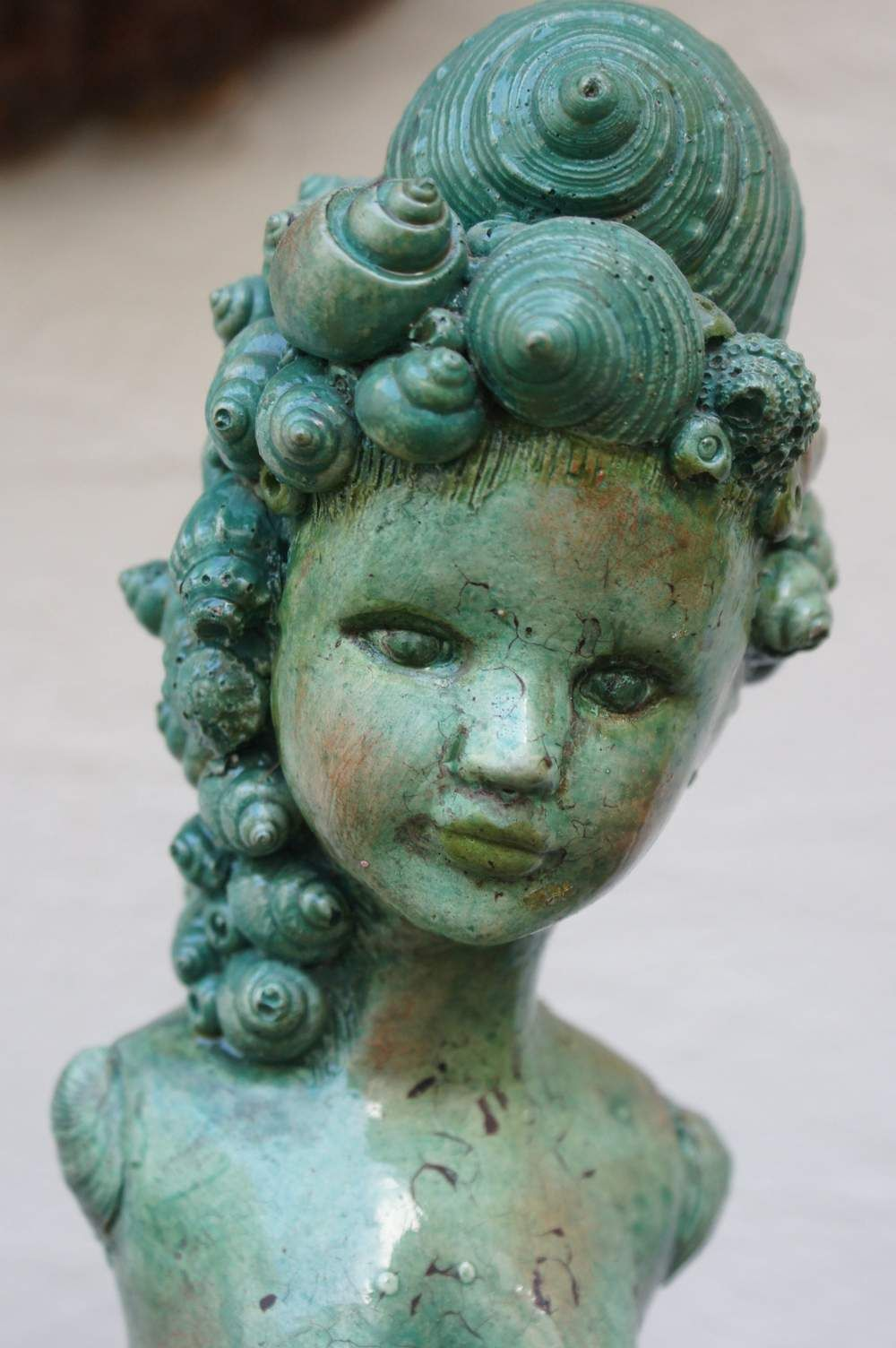 Gartenfiguren Skulptur Meerjungfrau Garten Gartenfigur Ein Designerstuck Von Mandagora Bei Dawanda Statuen Skulpturen Beton Kunst