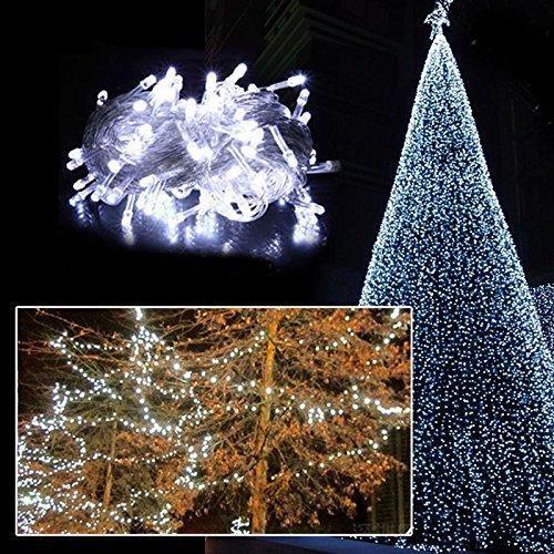 SenKa White 32ft 100 LED Fairy Light String Holiday Outdoor Lighting