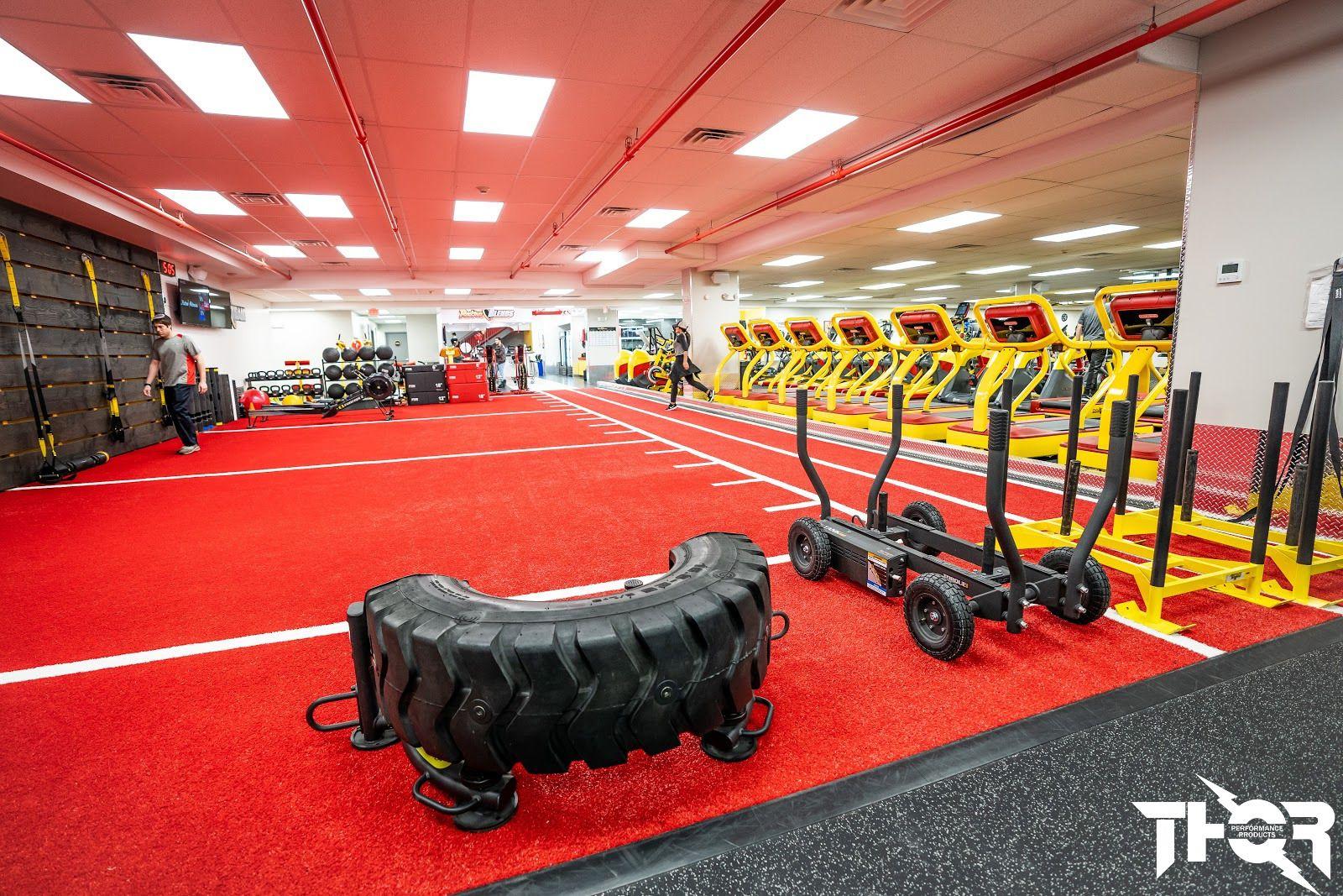 Artificial Turf For Fitness Fitness Center Design Wellness Design Gym Design