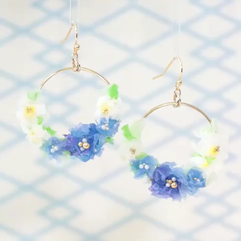 Photo of Flower Bouquet Resin Earrings. Can you imagine that this is made of tissue? Foll…