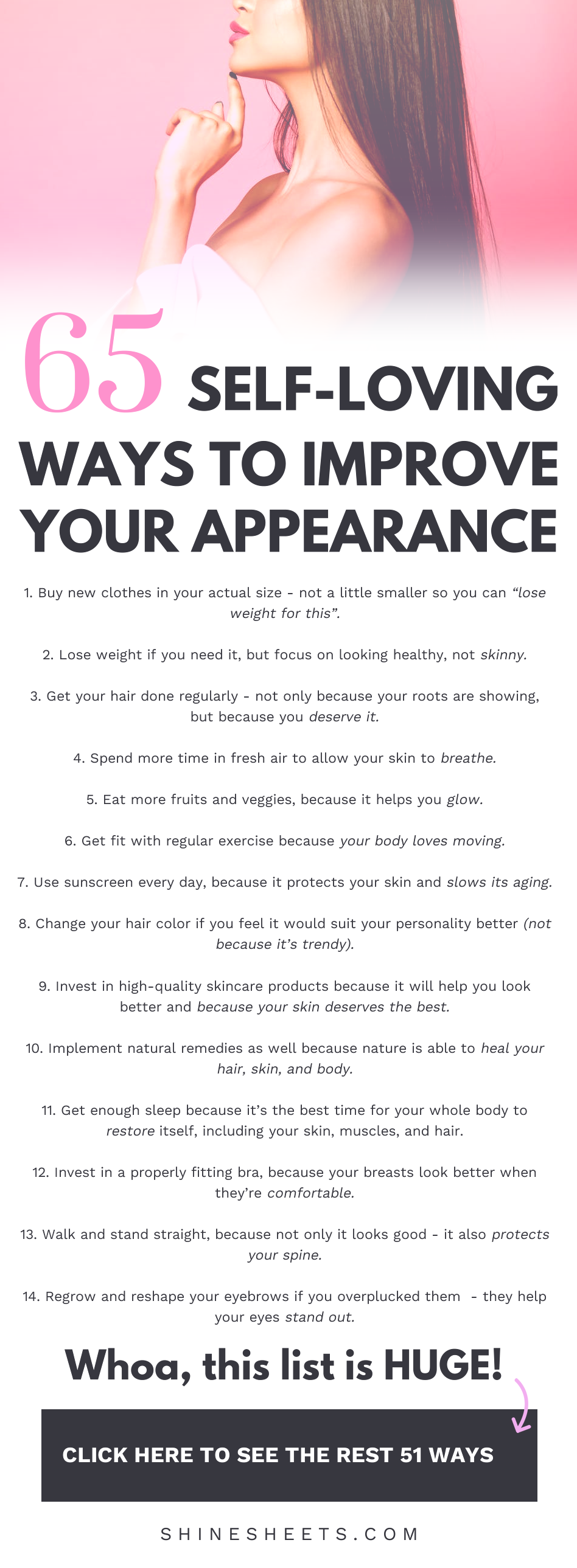 65 Self-Loving Ways To Improve Your Appearance