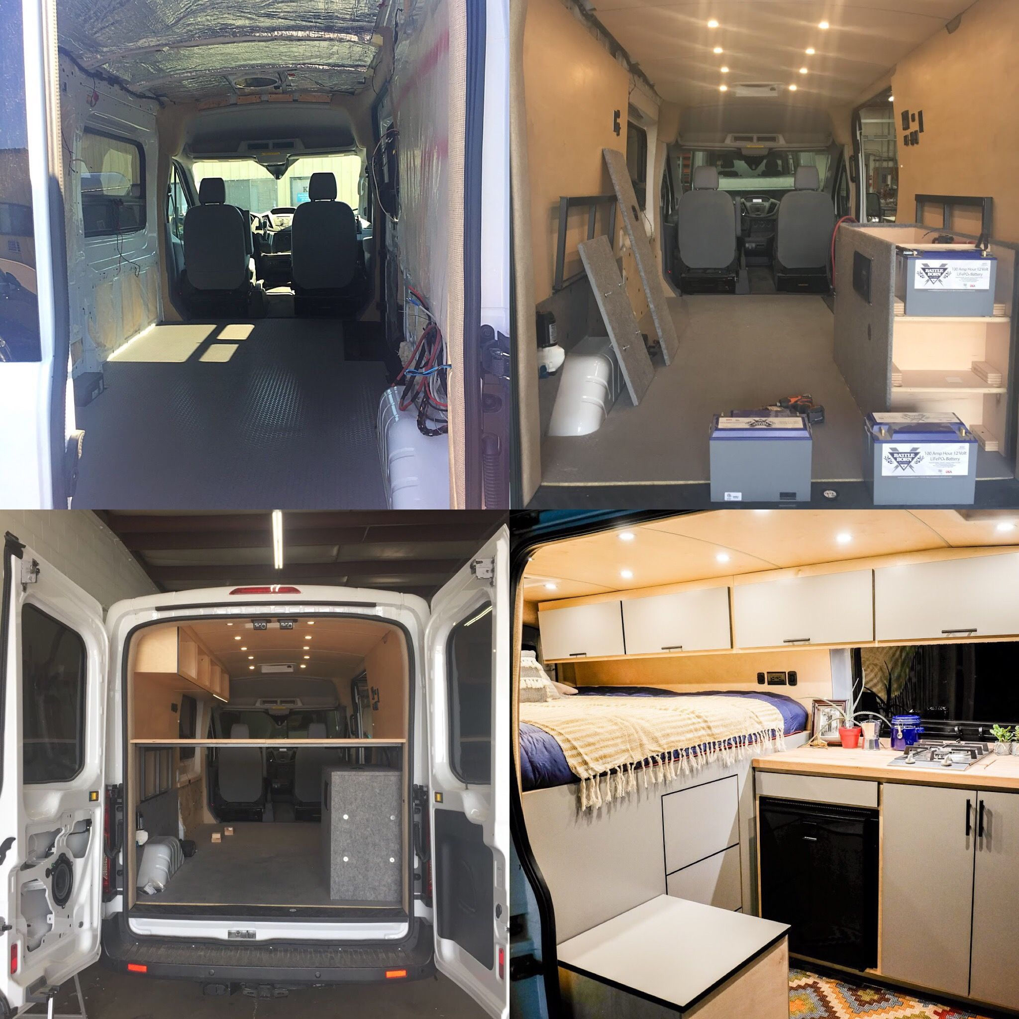 Vanlife Customs Transit Camper Van Conversion Before And After