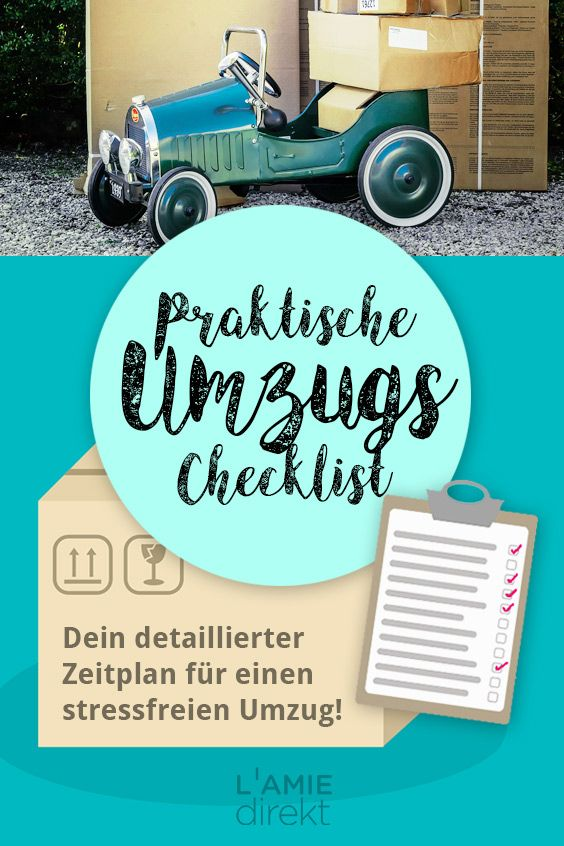 praktische umzugs checklist moving pinterest umzug umzug planen und umzug tipps. Black Bedroom Furniture Sets. Home Design Ideas