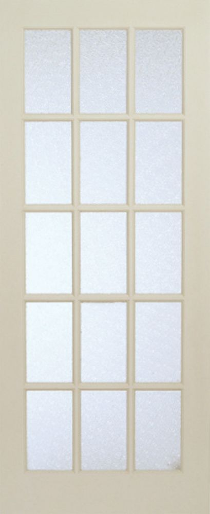 32 Inch X 80 Inch Primed 15 Lite Interior French Door With Martele Privacy Glass French Doors Interior Oak French Doors French Doors