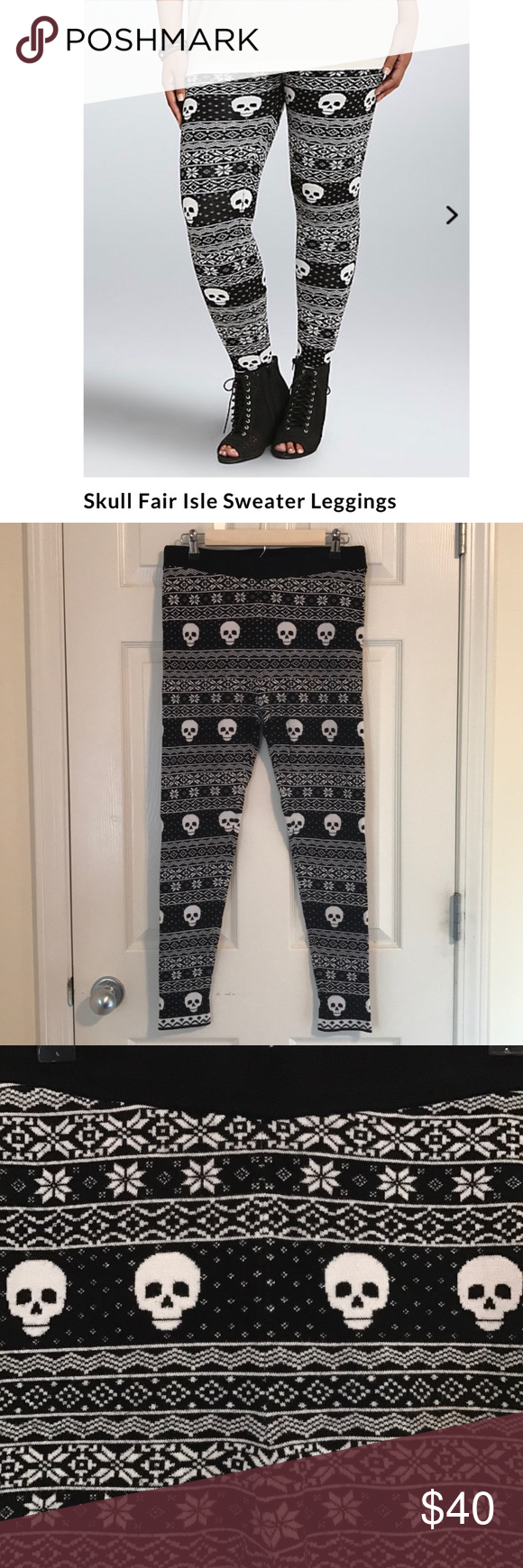 Torrid skull fair isle sweater leggings Torrid fair isle skull ...