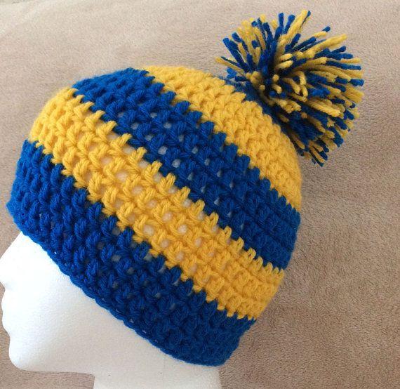 d1fcebe8450fab Crochet Golden State Warriors inspired Hat by CrochetMagazin | My ...