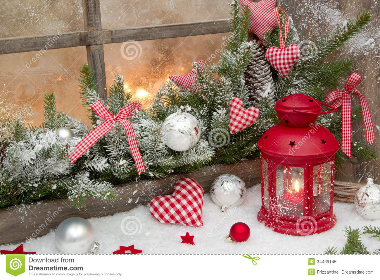 Rustic christmas red rustic christmas decoration on for Decoration de fenetre exterieur