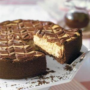 Lightened Chocolate-Coffee Cheesecake With Mocha Sauce | MyRecipes.com