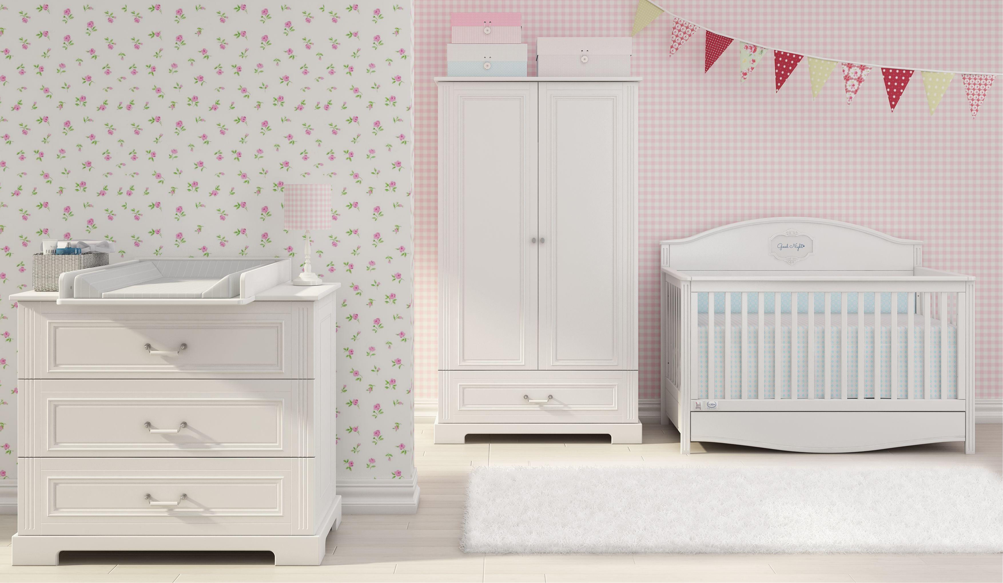 Kinderzimmer Ines white mit 2türigem Schrank