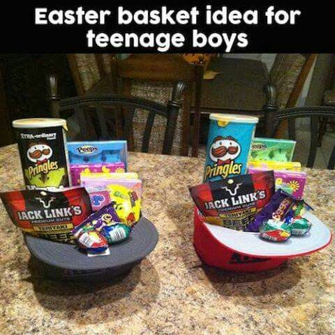 Easter basket idea for teenage boys baby pinterest basket maybe a gift basket negle