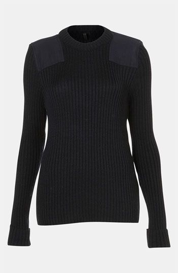 Topshop Boutique Ribbed Military
