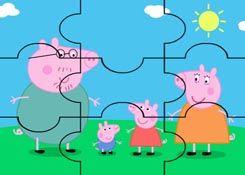 JuegosdePeppacom  Juego Rompecabezas Familia de Peppa Pig