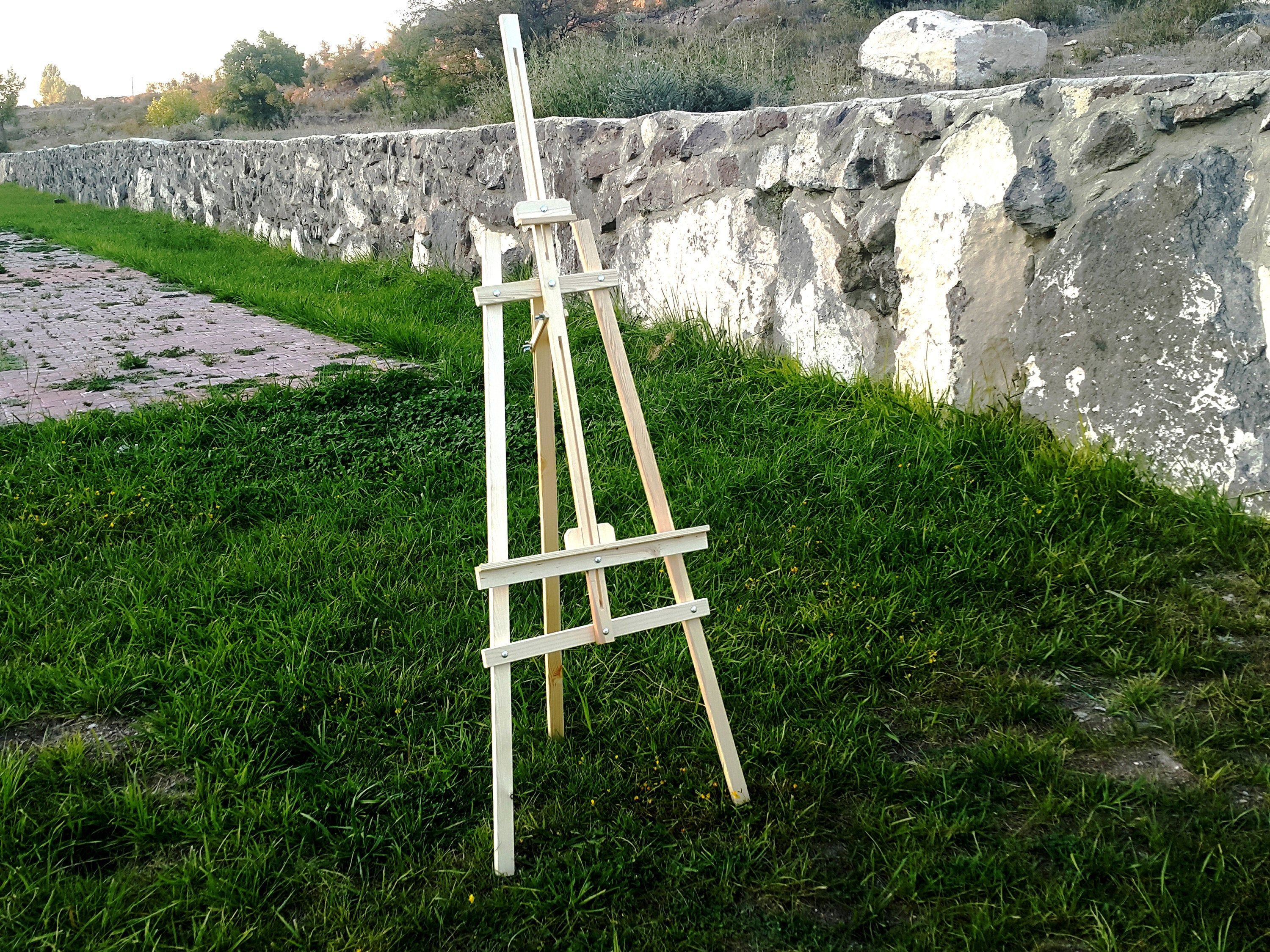 """Large 68"""" Wood Easel Stand For Wedding Sign Floor Easel"""