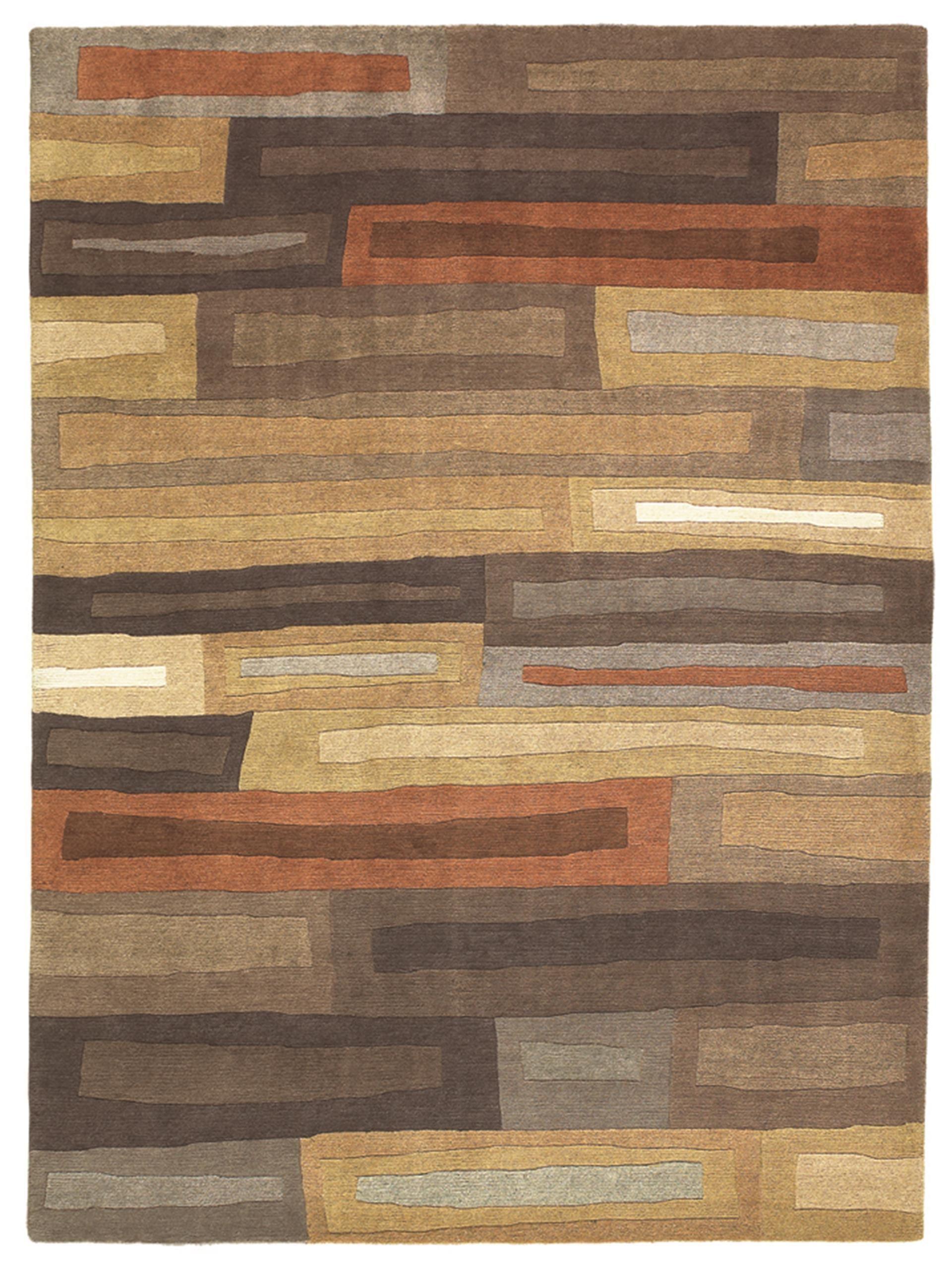 Kodari Bricks 99705 Brown Orange Hand Knotted Wool Rugs By Brink Campman Online From The Rug Er Uk