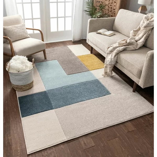 This Area Rug Is Purely Modern With Reinterpretations Of Classic Motifs As Well As Geometric Desig In 2020 Modern Rugs Living Room Mid Century Modern Rugs Modern Rugs