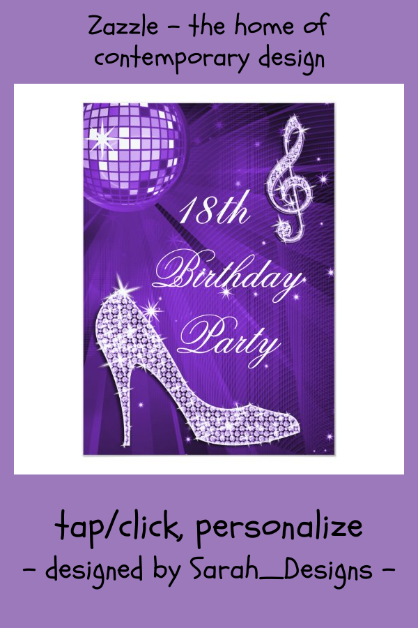 sparkle heels purple disco ball 18th