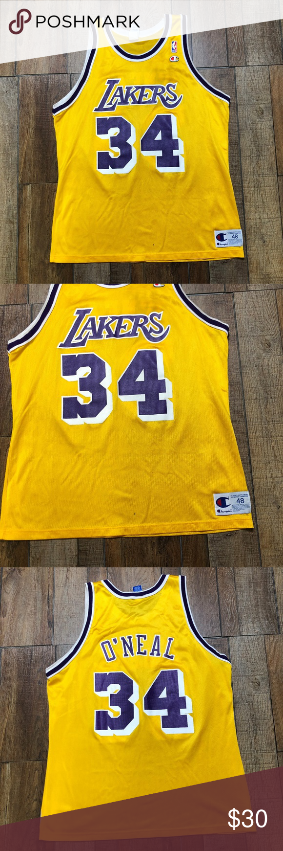 e8fb4dd23 Shaquille O Neal Los Angeles Lakers NBA Jersey Shaquille O Neal  34 Vintage