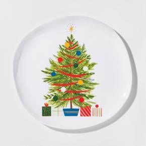 Melamine Christmas Tree Dinner Plate 10.5  White/Green - Threshold™ & Threshold Melamine Christmas Tree Dinner Plate 10.5 White/Green ...
