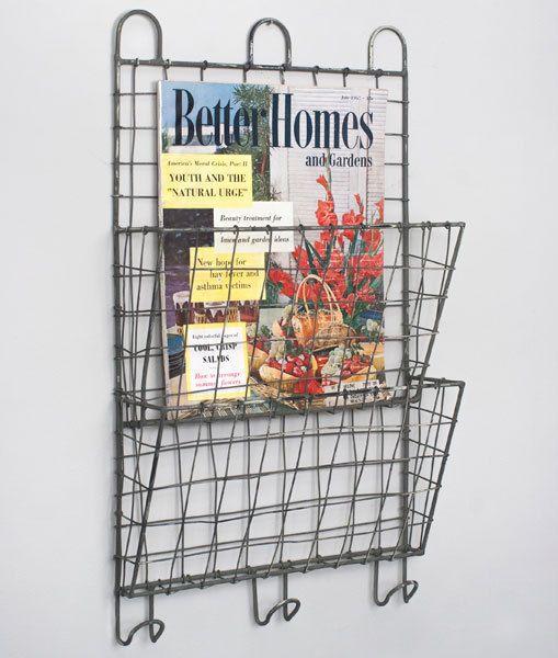 Cubby Primitive Bin Organizer Basket Shelf Wire Wall New File pzMUVS