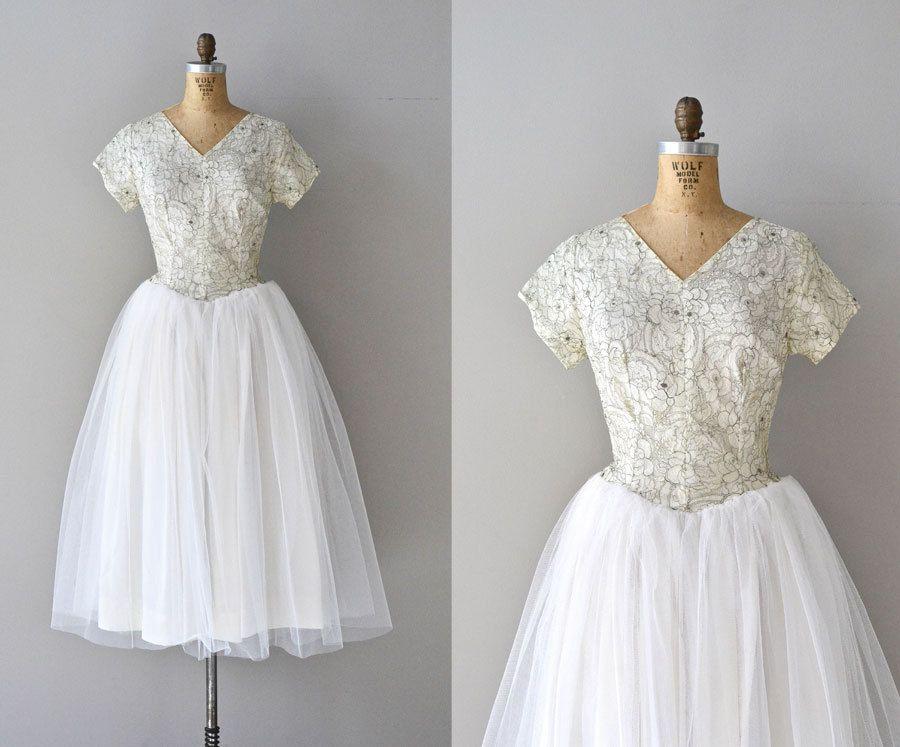 Mais Oui wedding gown   vintage 50s wedding dress • tulle 1950s ...