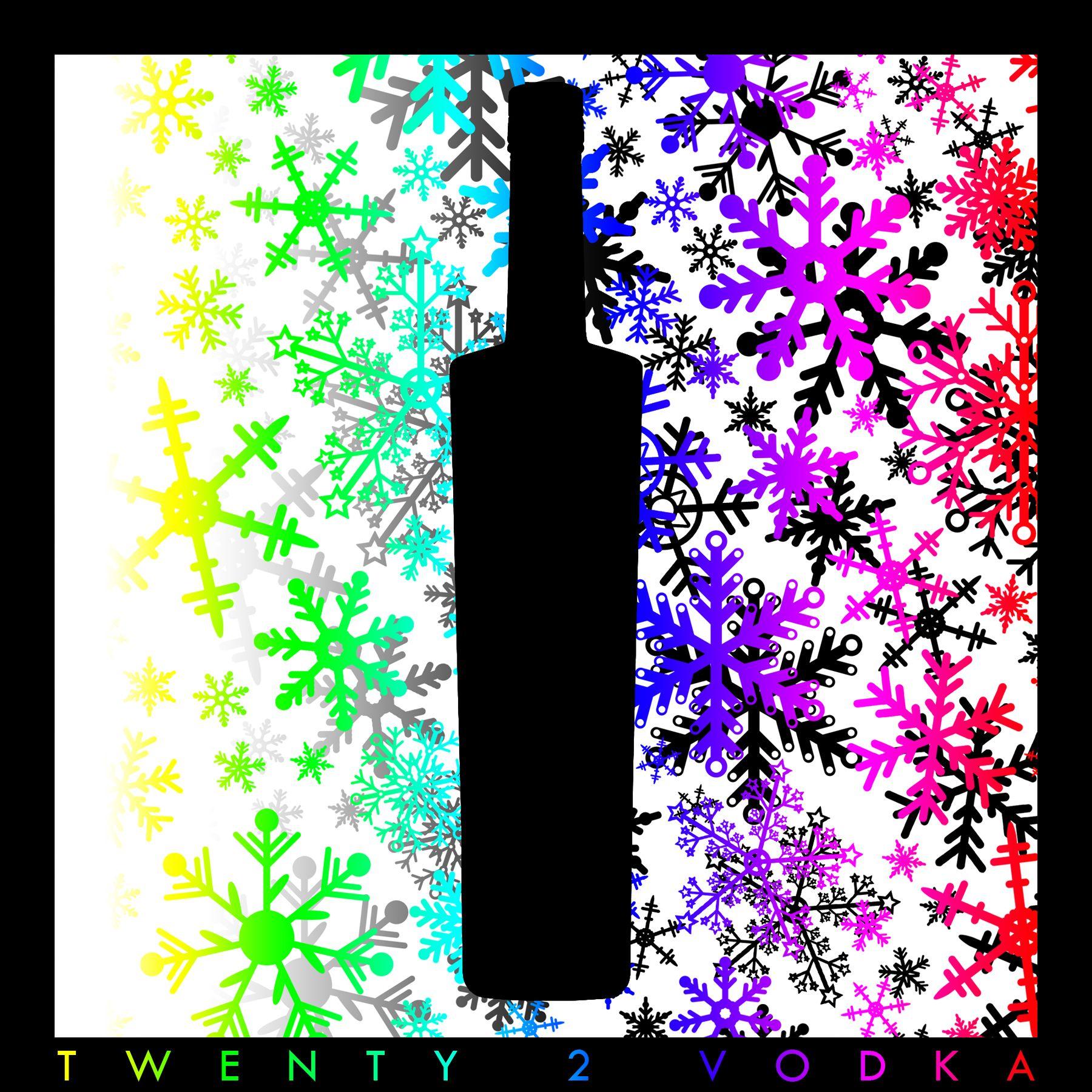 rainbow square snowflake