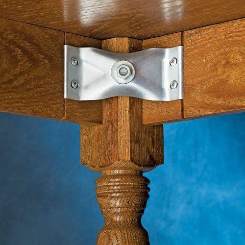 3 X 4 3 4 Kerf Mount Corner Bracket Set Of 4 By Rockler 5 59 Corner Braces Will Make Your Table Stronger Thi Hanger Bolts Corner Brace Woodworking Box