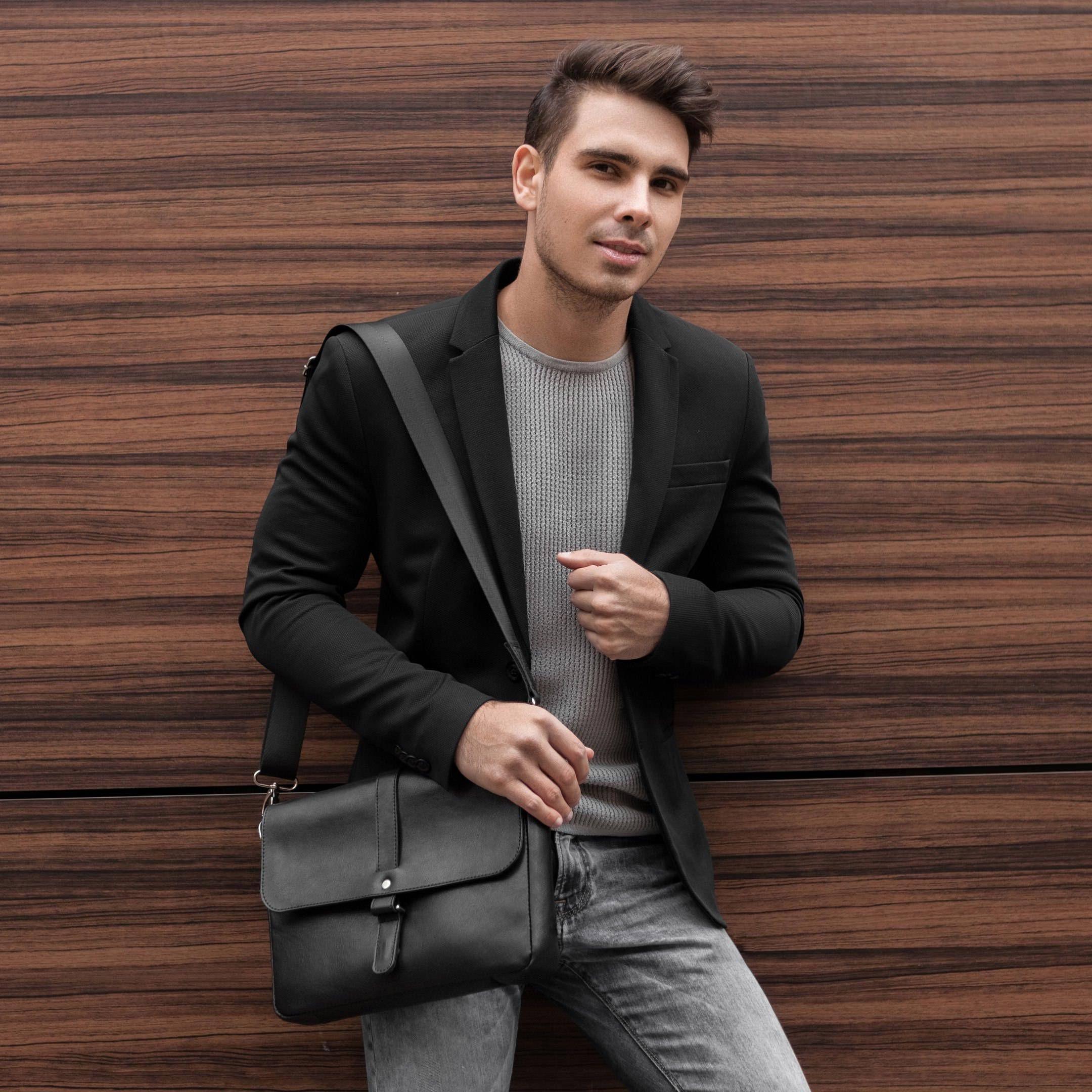 Leather Messenger Bag Men Leather Shoulder Bag Mens Etsy Mens Leather Bag Leather Messenger Bag Men Mens Crossbody Bag
