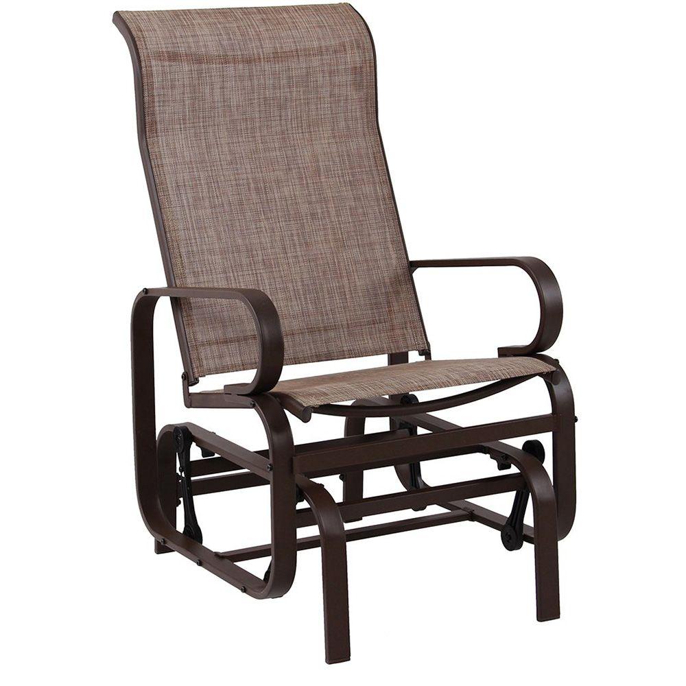 PHI VILLA Swing Glider Chair Patio Rocking Chair Garden