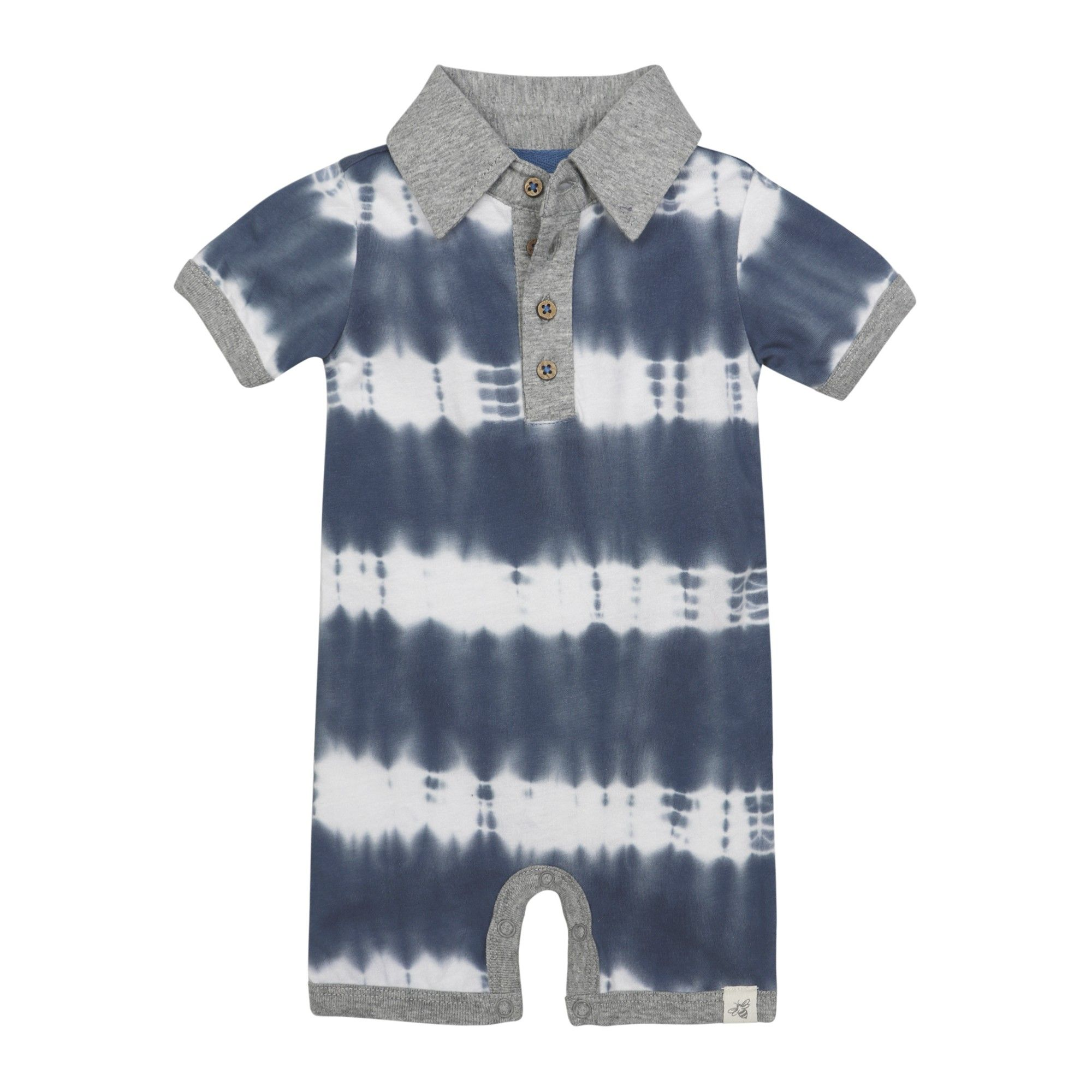 Burt s Bees Baby Baby Boys Organic Tie Dye Stripe Polo Shortall