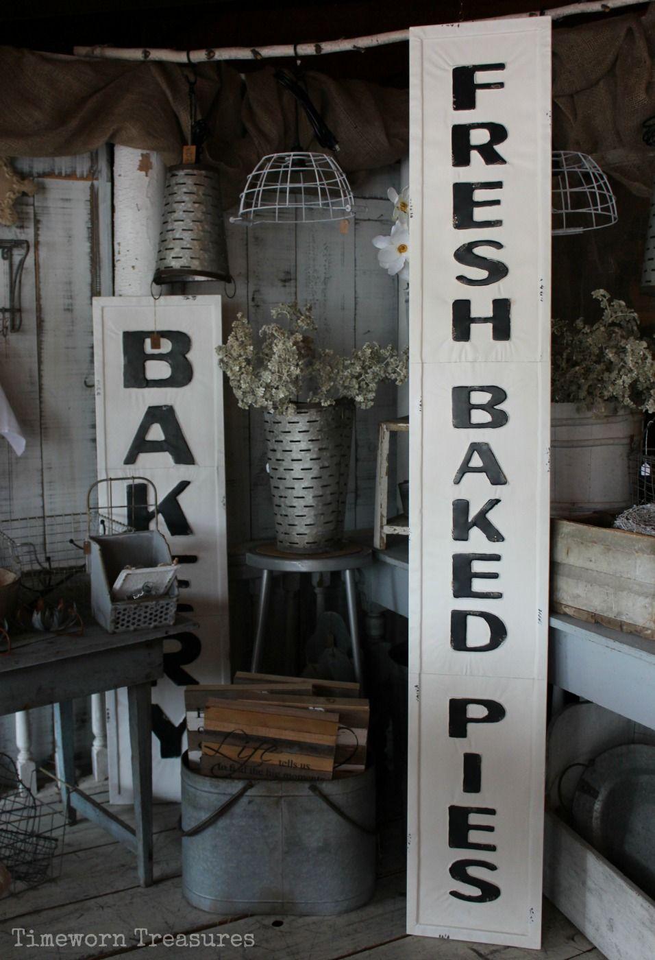 FRESH DAILY Vintage Style Enamel Sign Country Farmhouse Kitchen Wall Decor NEW