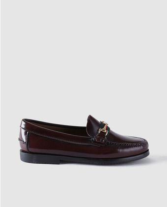74902694 Mocasines de niño 1901 de piel en color burdeos | Zapatos peques ...
