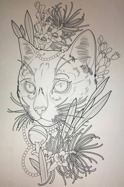 Tattoo Ideas Cat Draw 38 Ideas For 2019 Cat Tattoo Cat Tattoo Designs Art