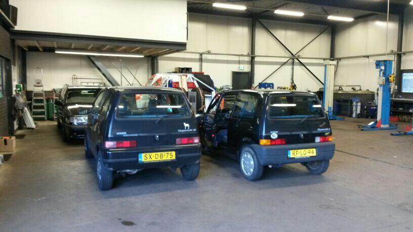 Fiat cinquecento 1994/1995 rechts gaat mee links blijft achter....