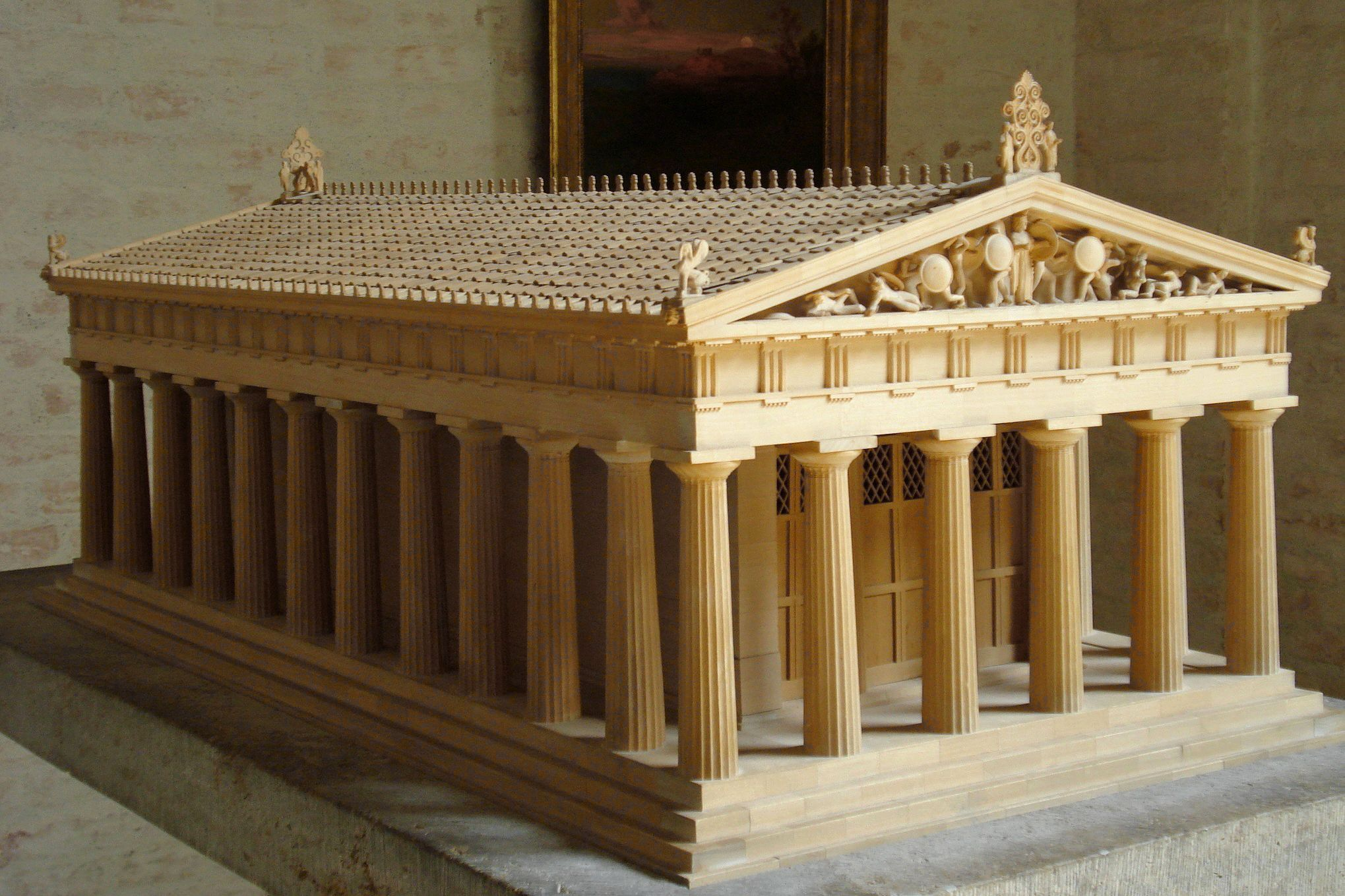 Archaic Temples Restored Model Of Aphaia Temple Aegina