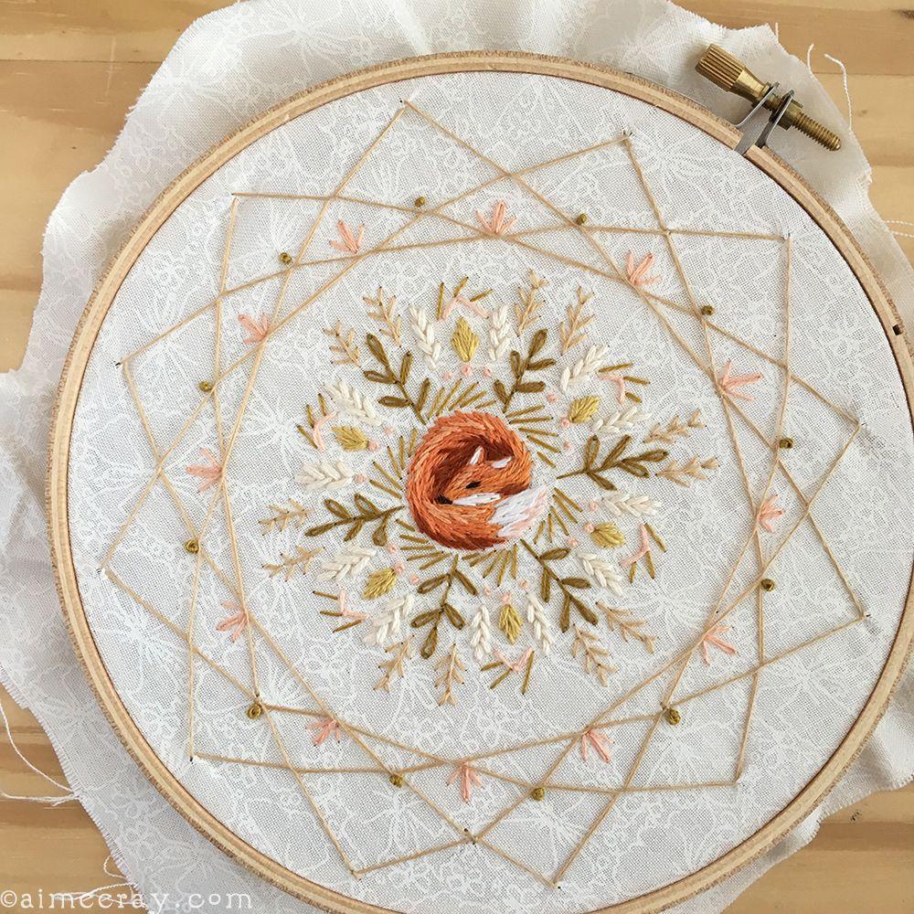 Dream Catcher Stitch tutorial at www.littledeartracks.blogspot.com ...