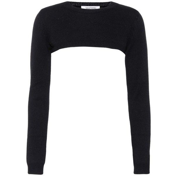 Valentino Cropped Cashmere Sweater ($1,275) ❤ liked on Polyvore ...