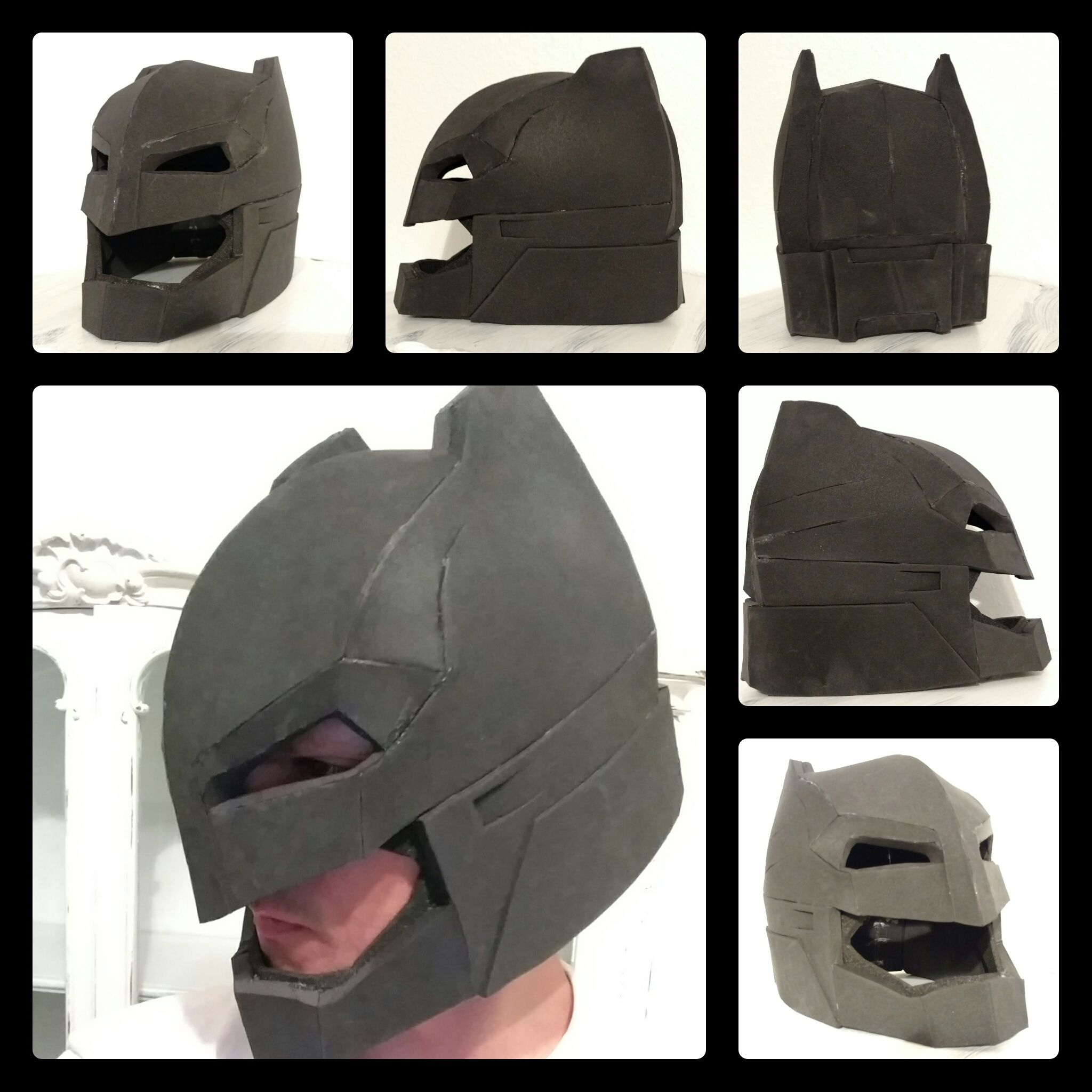 Batman helmet out of EVA foam batman doj evafoam cosplay